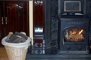 Open fire Coomassig View B&B